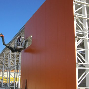 Polyurethane Insulated Facade Panels